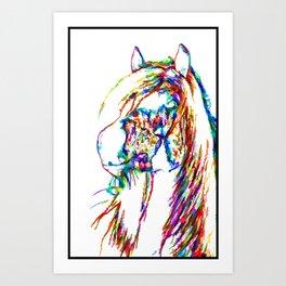 Horse With A Sense Of Humor Art Print