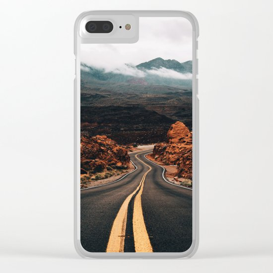 Road to Valley of Fire Clear iPhone Case