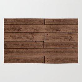 Reclaimed Floorboards Wood Pattern Rug