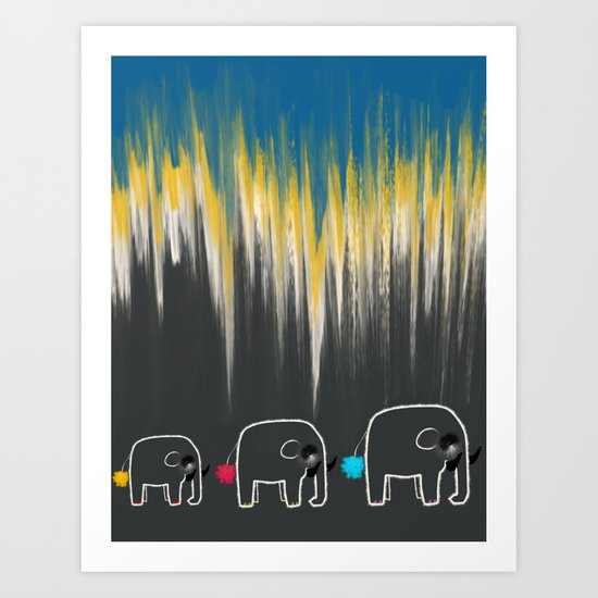 The Family Trail - Life of an Elephant Art Print