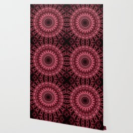 Dark red mandala Wallpaper