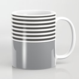 Gray Half Striped Coffee Mug