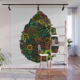 "Floral Uterus ""緑(ROKU)"" Wall Mural"
