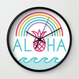 Aloha Rainbow Wall Clock