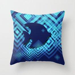 Blue Fish Angel Anglers Angles Throw Pillow