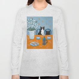 Cats and a French Press Long Sleeve T-shirt