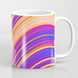 Colorful Wavy Stripes Coffee Mug