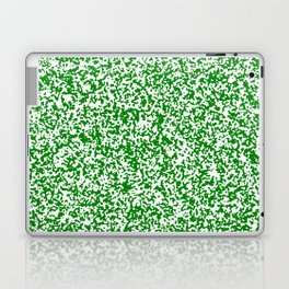 Tiny Spots - White and Green Laptop & iPad Skin