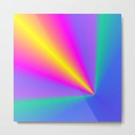 Conical Colors Metal Print