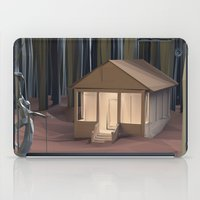 cabin iPad Cases featuring Cabin in the Woods by CharismArt