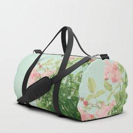 Pink Roses Duffle Bag