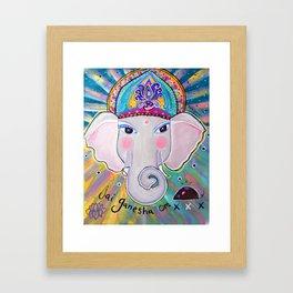 Jai Ganesha  Framed Art Print