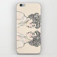 neon genesis evangelion iPhone & iPod Skins featuring Genesis by Kate Plourde