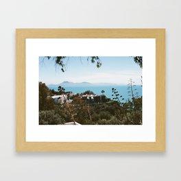 "The view from the garden at ""La Maison du Baron d'Erlanger"", Sidi Bou Saïd, Tunisia Framed Art Print"