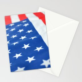 American Flag 2 Stationery Cards