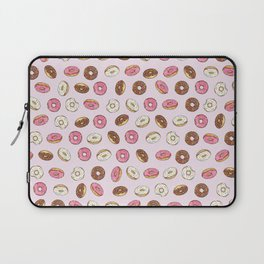 ALL the donuts! Rainbow on Pink Laptop Sleeve