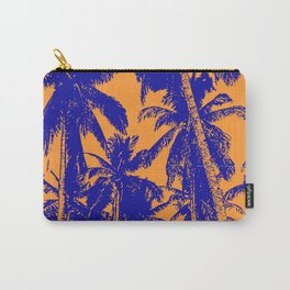 Palm Trees Design in Blue and Orange Carry-All Pouch