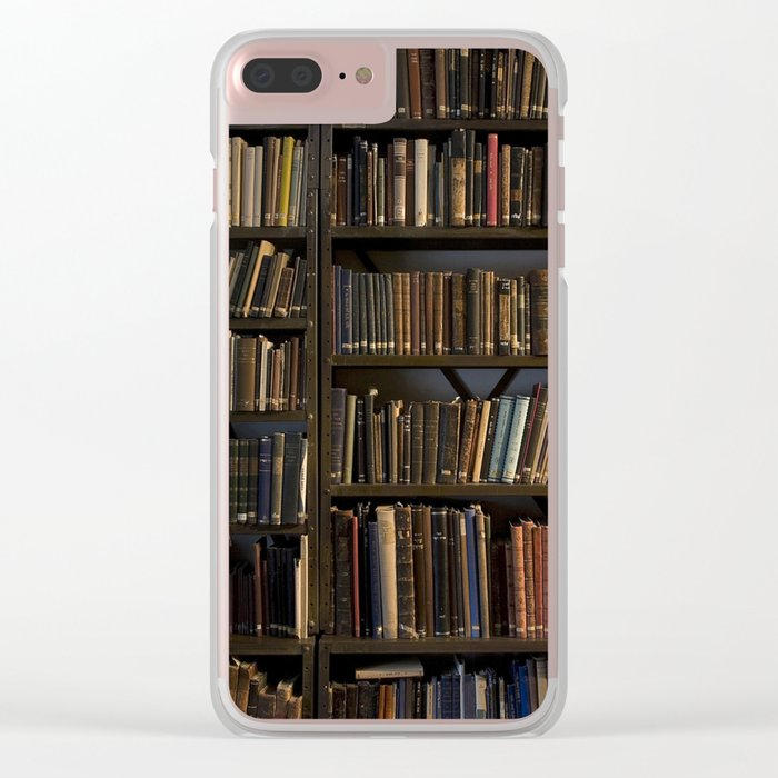 Library books Clear iPhone Case