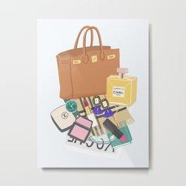 What's in my bag Illustration Metal Print