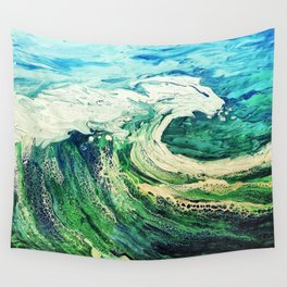 Take a Boat off to the Sea, Blue, Painting Wall Tapestry