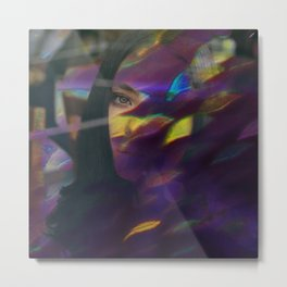 Purple flare Metal Print