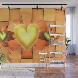 Hearts & Bows Wall Mural