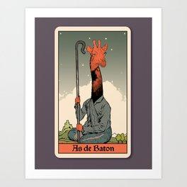 The Ace of Wands Art Print