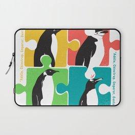 Penguin Adélie Chinstrap Emperor Gento Autism Laptop Sleeve