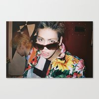 shinee Canvas Prints featuring Jonghyun - SHINee by Felicia