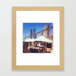 NYC Flea Market Framed Art Print
