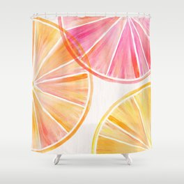 Summer Citrus Party Shower Curtain