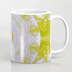 Green and white quilt kaleidoscope Mug