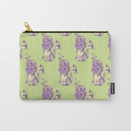 Lilac Cat Wears Tibracorn Onesie Carry-All Pouch