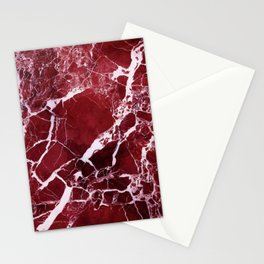 Ruby Red Marble Stationery Cards