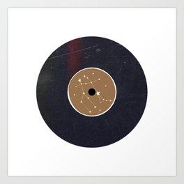 Vinyl Record Star Sign Art | Gemini Art Print