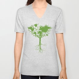 March for Science Earth Day 2017 ,Earth Tree Shirt Unisex V-Neck