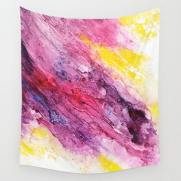 Pink abstract Wall Tapestry