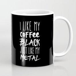 Black Coffee, Black Metal Coffee Mug