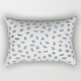 Simply Ink Splotch Indigo Blue on Lunar Gray Rectangular Pillow