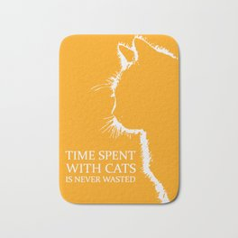Time Spent With Cats Bath Mat