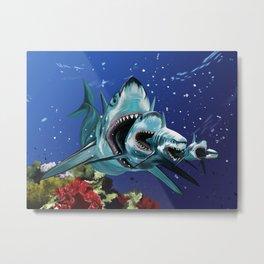 Sharkioska Metal Print