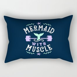 Mermaid With Muscle Rectangular Pillow