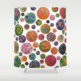Petri Dish Polka Dot  Shower Curtain