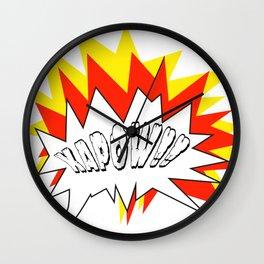 Comic with the write Kapow!! - Vector Wall Clock
