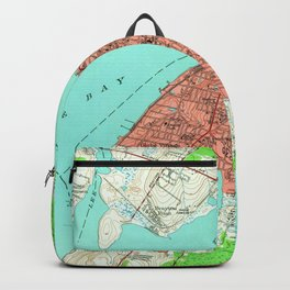 Vintage Map of Fall River Massachusetts (1949) Backpack