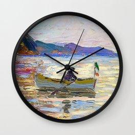 Wassily Kandinsky - Rapallo - boat in the sea Wall Clock