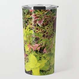 Foliage Fiesta With A Touch Of Begonia Travel Mug