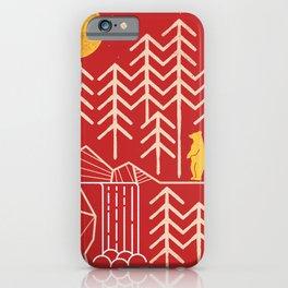 Sunlands - Bear T-Shirt, Bear, Nature, Geometric, Waterfall, Hiking gift, Walking, outdoors iPhone Case