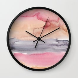 6    | Abstract Minimal Watercolor Painting | 191223 Wall Clock