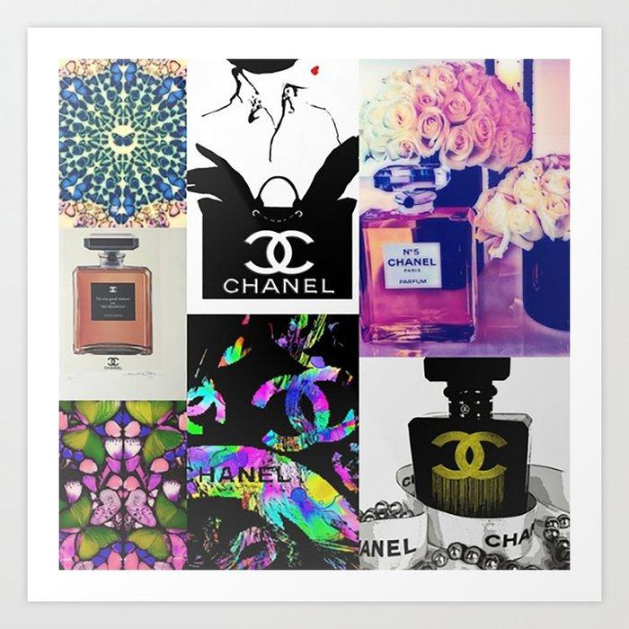 CC No.5 Fashion Collage Kunstdrucke